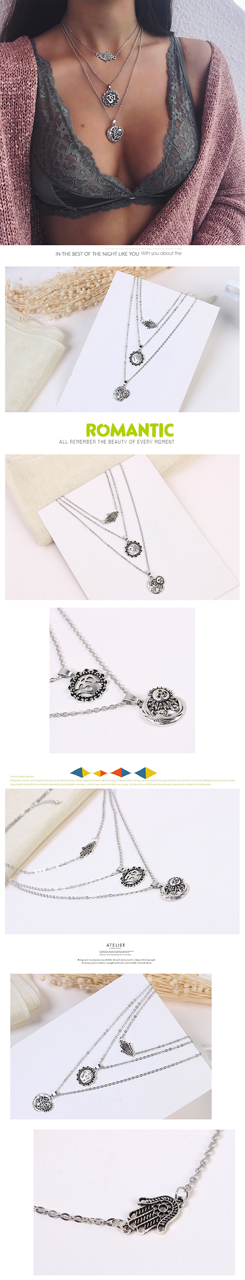 Europe and the United States wild creative trendy necklace (ancient alloy) NHNPS4500