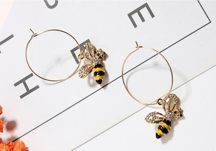 Korean version of the cute circle bee (black + brown) NHNPS4763