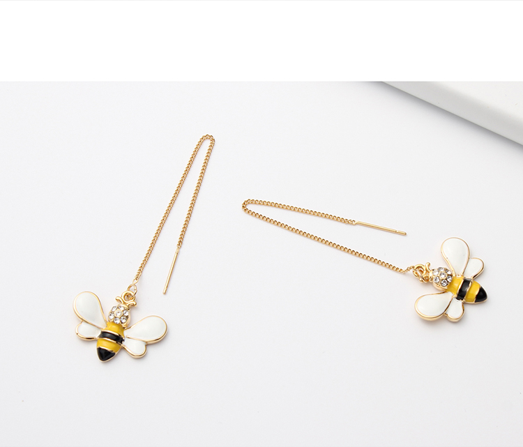 Korean fashion simple bee earrings NHNPS4734