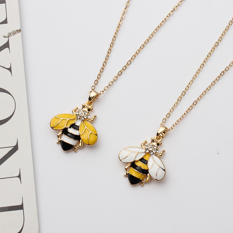 European and American style fashion wild bee (yellow) NHNPS4875