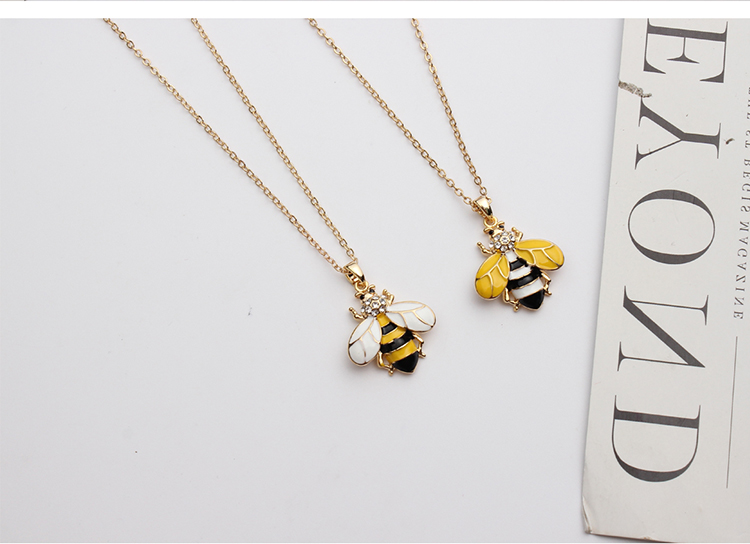 European and American style fashion wild bee yellow NHNPS4875