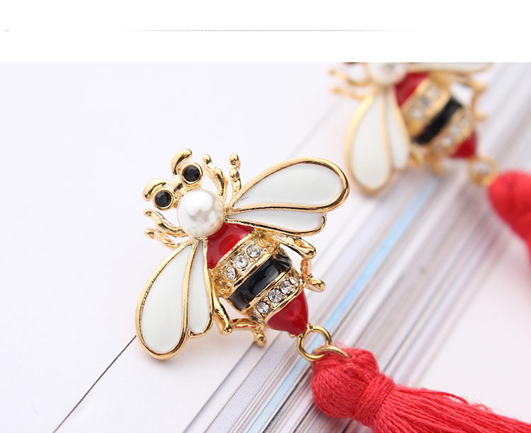 Korean fashion personality tassel bee (coffee) NHNPS4854