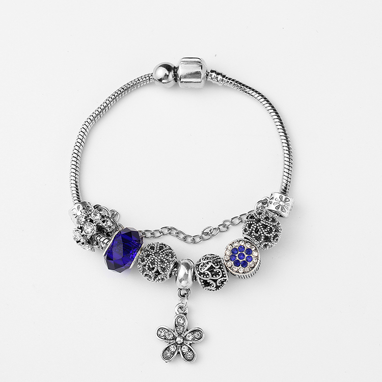 Korean retro creative peach bracelet (blue) NHNPS4803