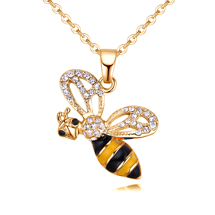European and American style fashion creative flying bee yellow NHNPS4792