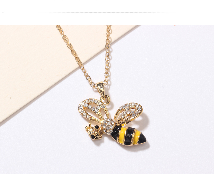 European and American style fashion creative flying bee (yellow) NHNPS4792