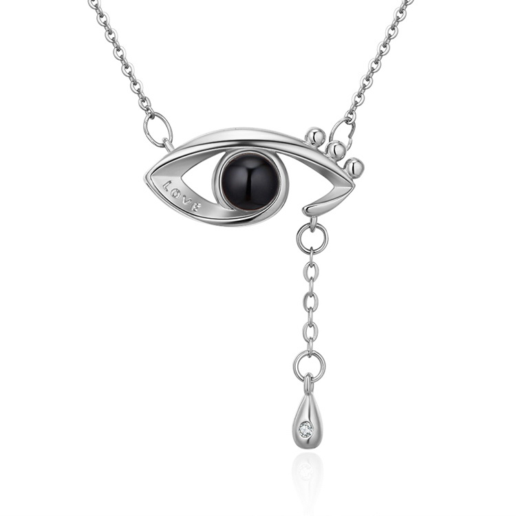 Plated in 100 languages, I love you necklace - Angel s Eye (Platinum) NHNPS4895