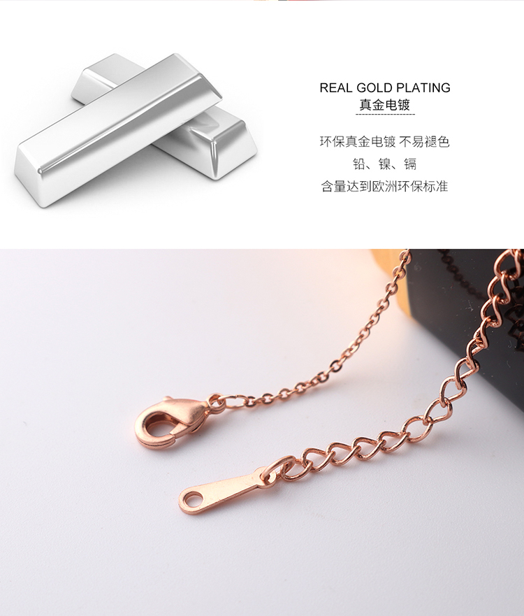 Plated with real alloy in 100 languages, love you necklace - belated love (platinum) NHNPS4903