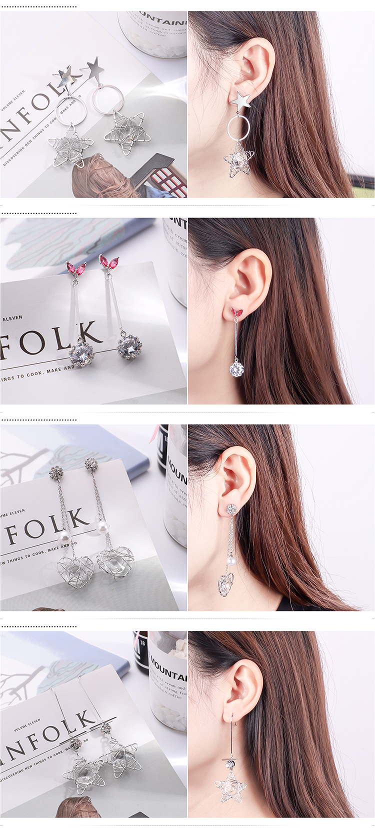 Fashion Japanese and Korean sweet small disc pendant earrings NHNPS5545