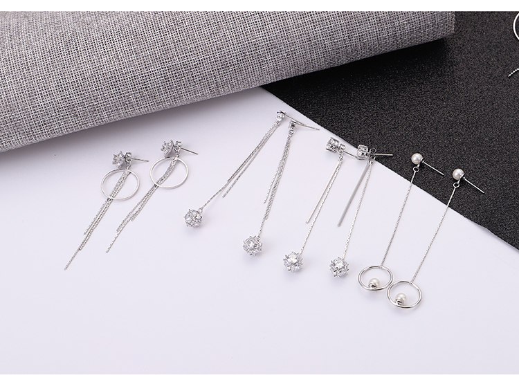 Japanese and Korean version of temperament personality drop earrings NHNPS5528