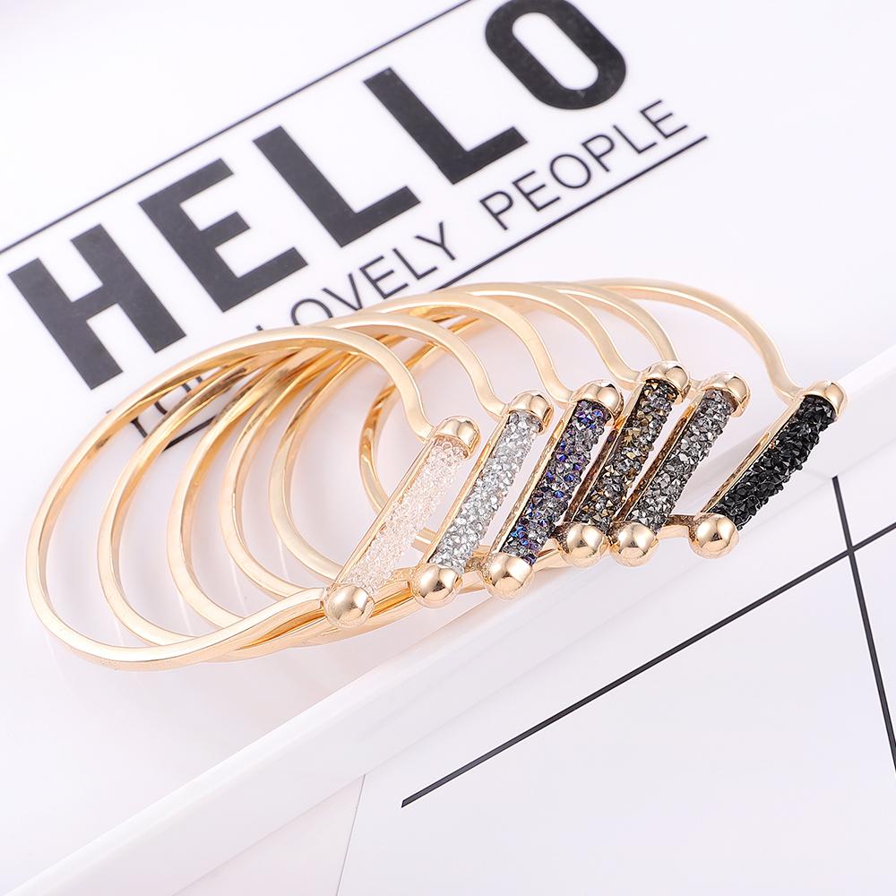 Alloy Bracelet - Full Love (Champagne Alloy + White) NHNPS5637