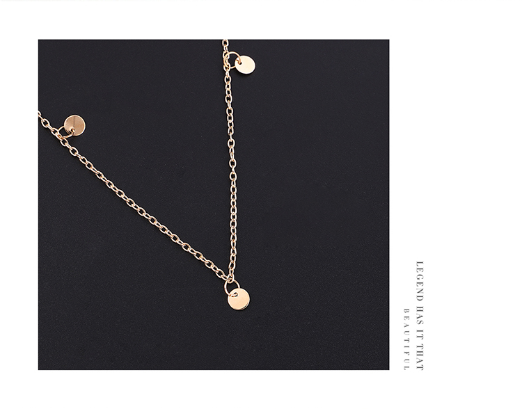 European and American fashion new moon cross Virgin pendant multi-layer necklace (imitation champagne alloy) NHNPS5867