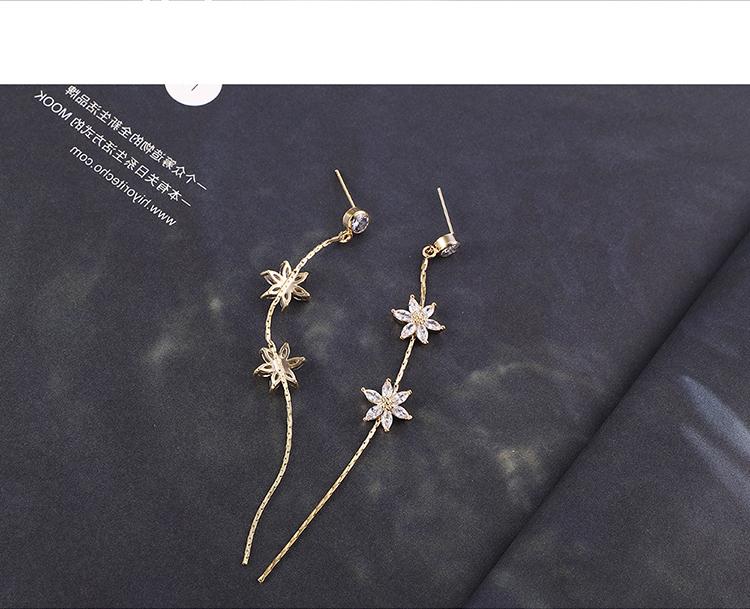 Alloy S925 Alloy Needle EarringsFlower Good World Platinum NHNPS6159