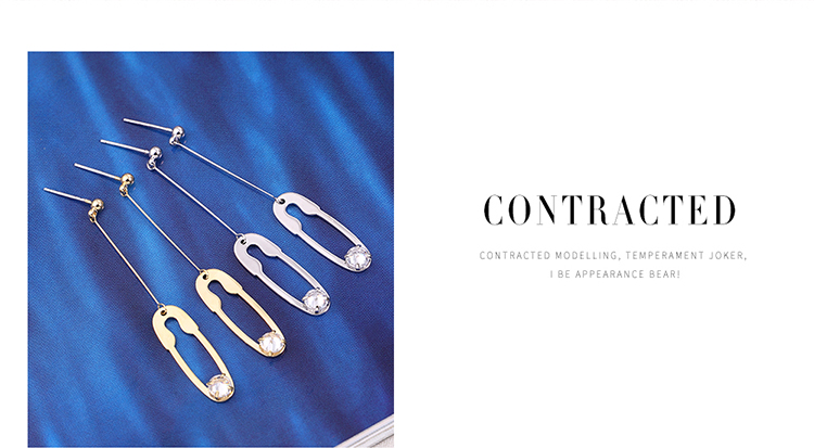 Korean version of the real alloy new creative simple wild S925 alloy needle earrings 14K NHNPS6136
