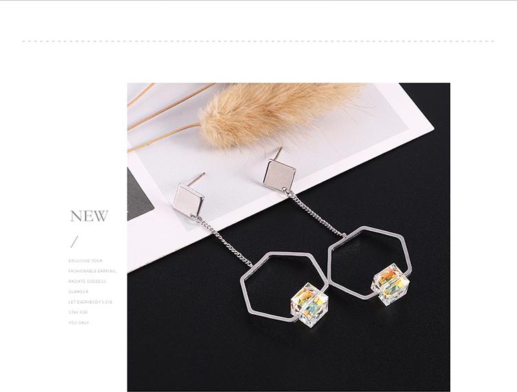 Imitated crystal Earring Fashion NHPS110520