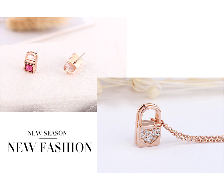 Imitated crystal&CZ Jewelry Set  NHPS54335