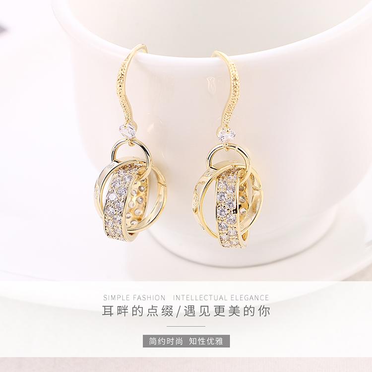 Copper plating earring  NHPS54298
