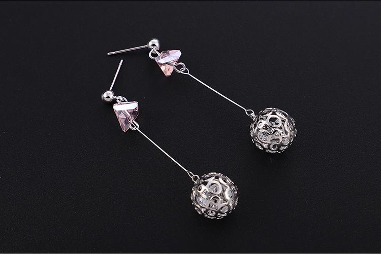 Imitated crystal&CZ earring Korea NHPS54346