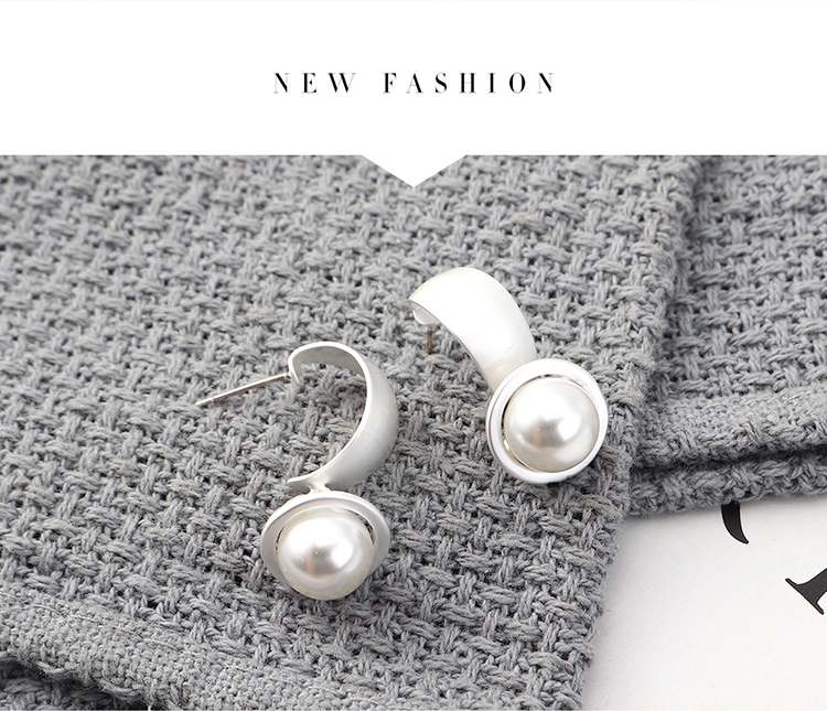 fashion earrings wholesale real gold plated small pearl S925 silver earrings NHPS185102