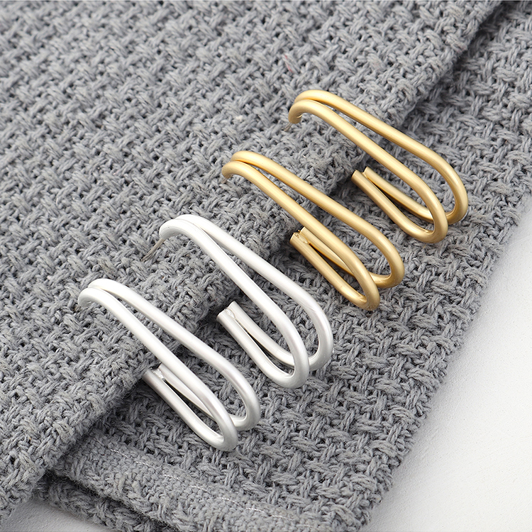 Fashion earrings wholesale real gold plated small banana hollow S925 silver earrings NHPS185099