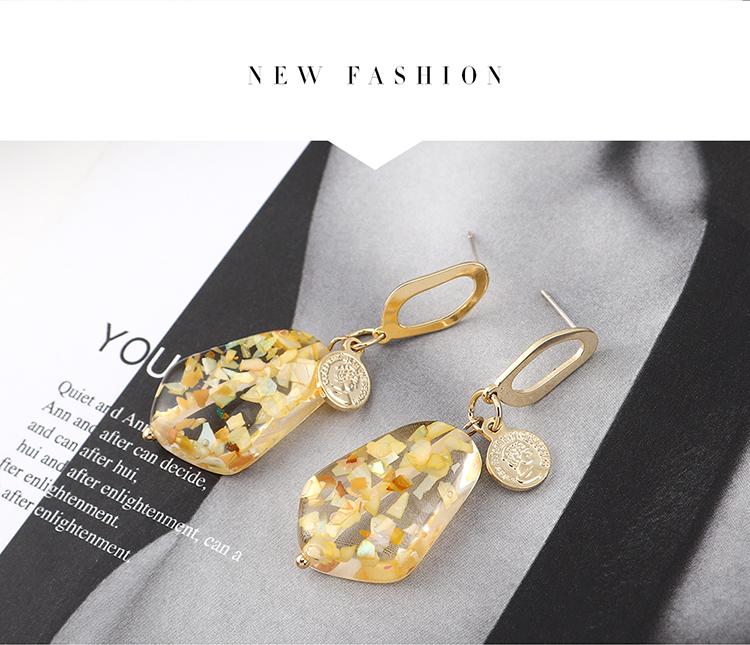 韩版时尚创意百搭镀真金印章头像S925银针