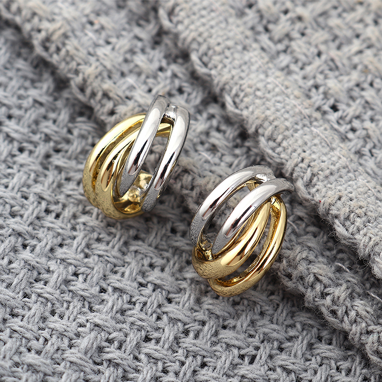 New fashion simple and small fresh and wild style gold plated S925 silver needle earrings yiwu nihaojewelry wholesale NHPS208048