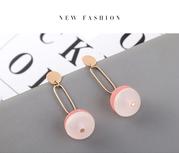 Korean new fashion simple wild style small semi-circle earrings yiwu nihaojewelry wholesale NHPS208050