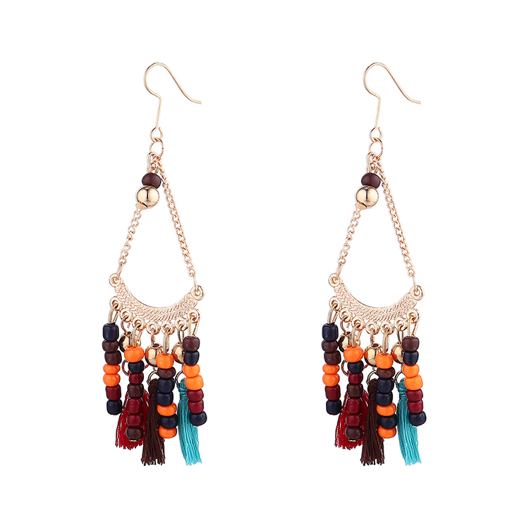 New fashion wild long small pendant earrings yiwu nihaojewelry wholesale NHPS208051
