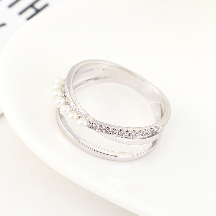 New fashion zircon pearl ring wholesale NHPS205278
