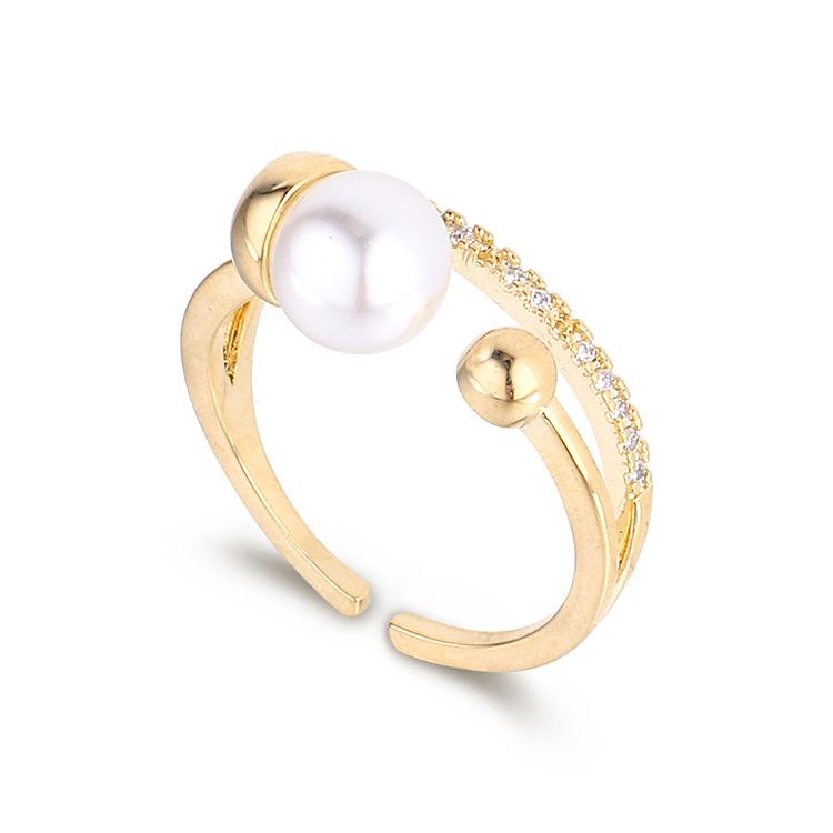 New fashion pearl zircon ring wholesale NHPS205279