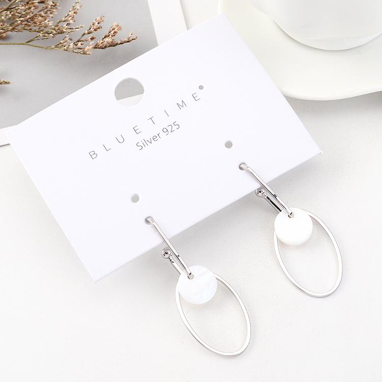 Korean version of the gold-plated wild fashion circle hollow S925 silver earrings NHPS185055
