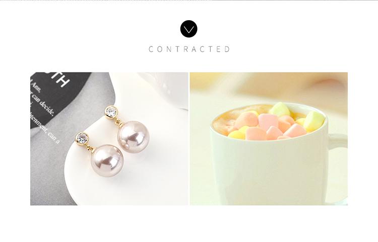 Simple small fresh wild goldplated fashion retro ball pearl S925 silver earrings NHPS185032
