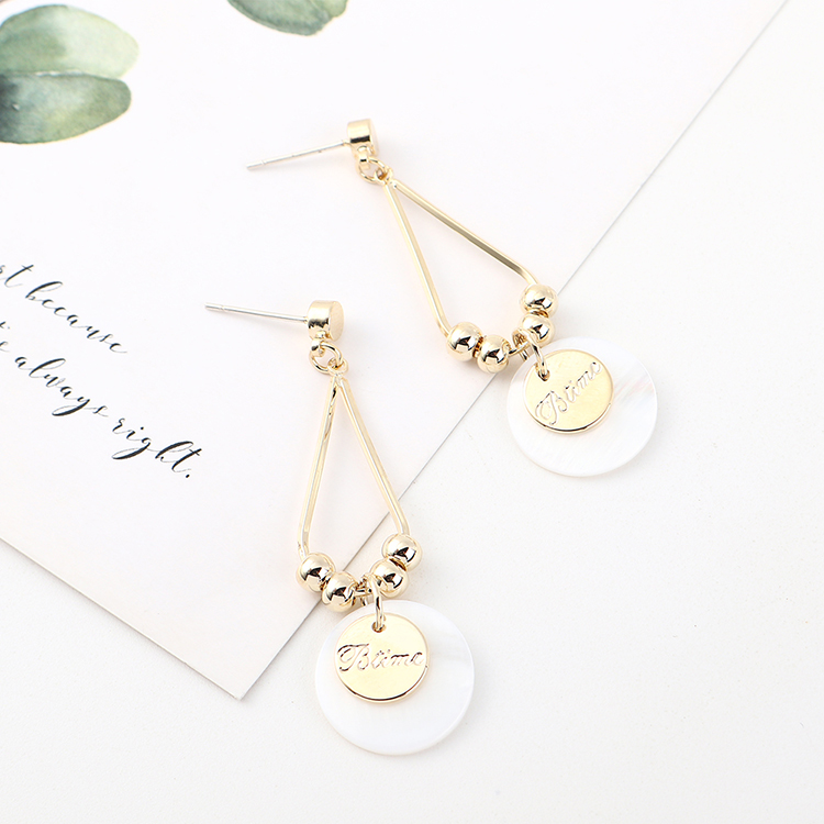 Korean version of simple and stylish wild gold-plated temperament small fresh small disc S925 silver needle NHPS185025