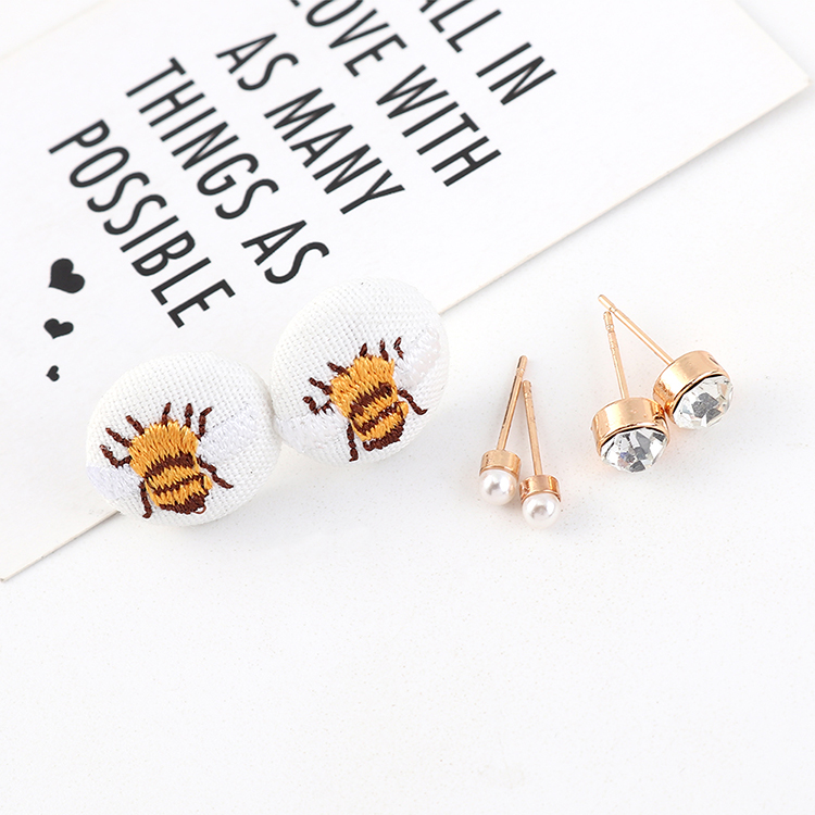 Korean fashion wild cute simple bee stud earrings wholesale NHPS205285