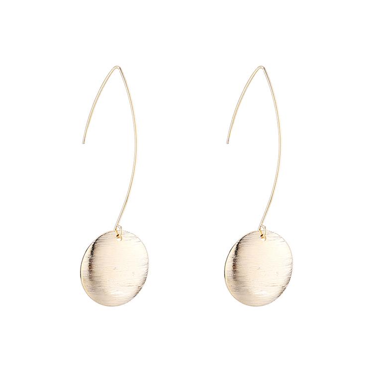 Korean gold-plated wild fashion disc earrings NHPS193527