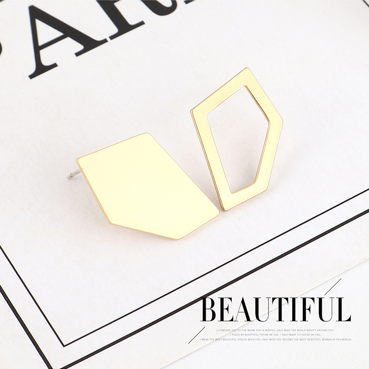 Real gold-plated creative wild cool breezy simple S925 silver earrings NHPS193513