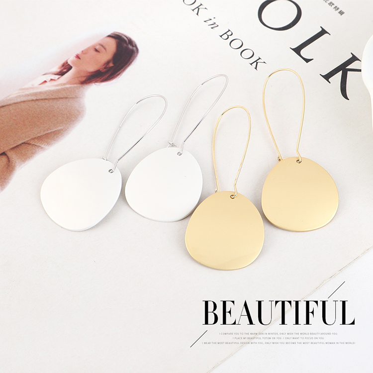 Simple small fresh goldplated trendy earrings NHPS193511