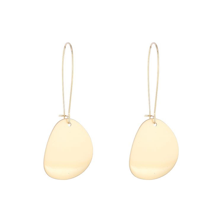 Simple small fresh goldplated trendy earrings NHPS193511