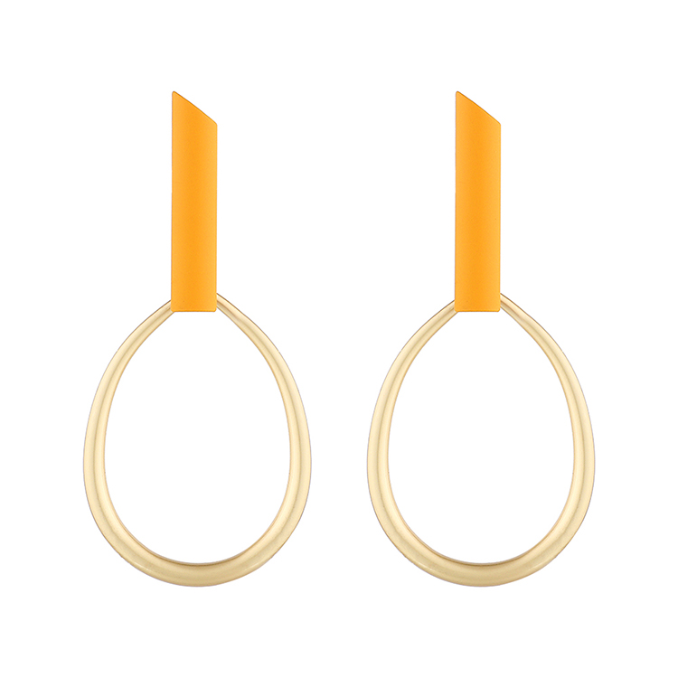 Fashion Gold Plated Creative Matte Hollow Circle S925 Silver Earrings NHPS193509
