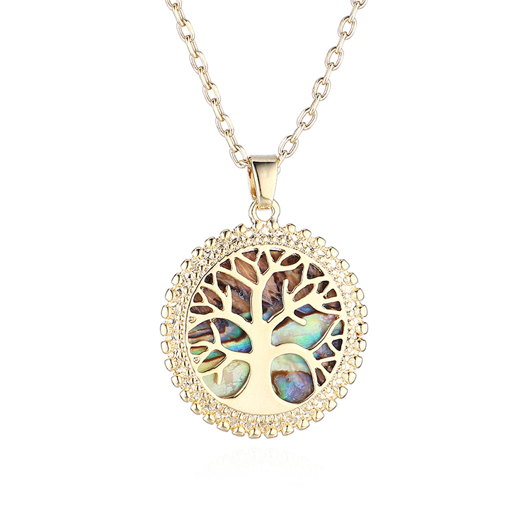 New fashion gold plated necklace lucky tree necklace yiwu nihaojewelry wholesale NHPS208052