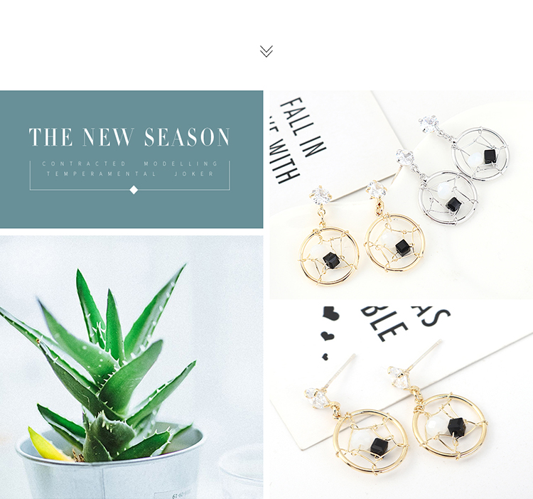 Jewellery for women Small and simple gold plated hollow S925 silver needle wholesales yiwu suppliers china NHPS203169