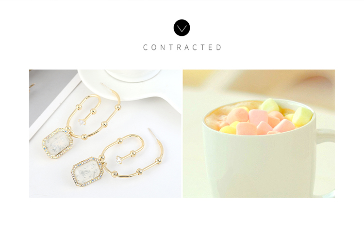 Korean fashion exaggerated creative gold-plated resin S925 silver pin earrings NHPS203183
