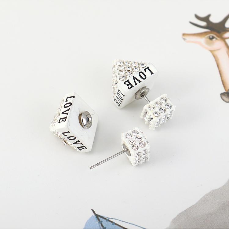 Korean creative fashion wild letter LOVE earrings NHPS204110