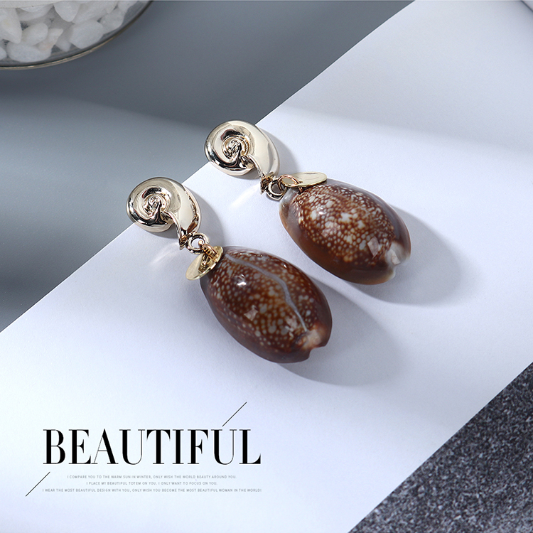 New Fashion Simple Creative Shell Earrings for women wholesale NHPS205301