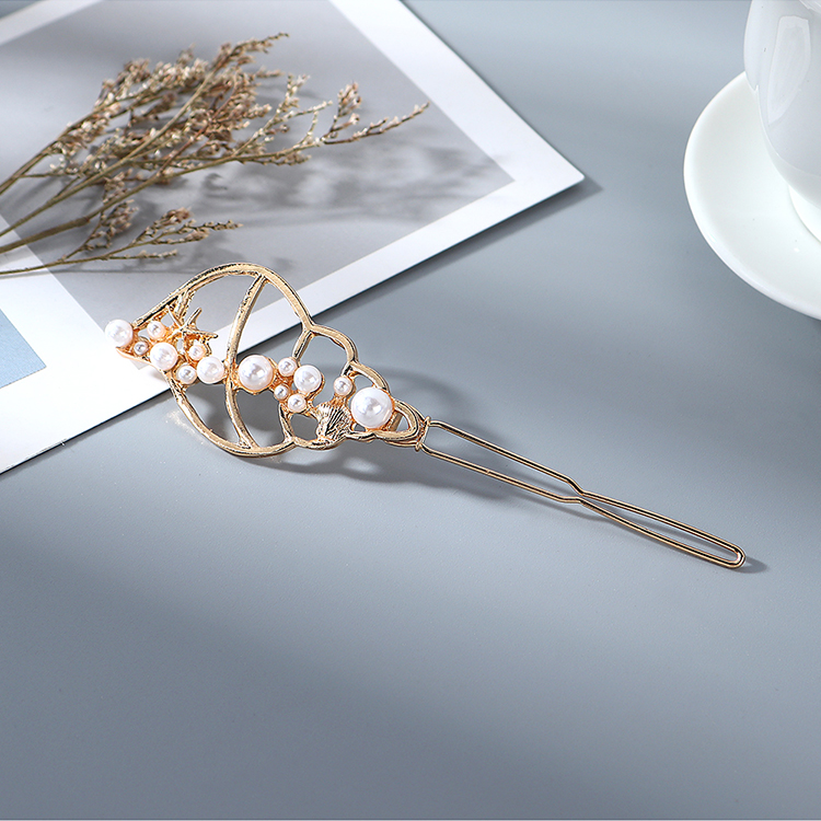 New Fashion Simple Conch Pearl Cheap Hair Clip Wholesale NHPS205306