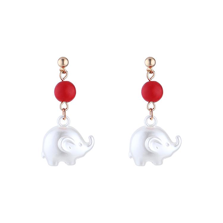 Korean fashion cute acrylic baby elephant earrings wholesale NHPS205309