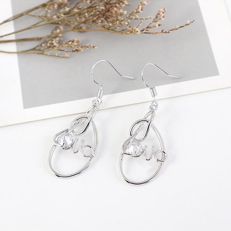 New fashion gold plated simple love creative earrings yiwu nihaojewelry wholesale NHPS208058