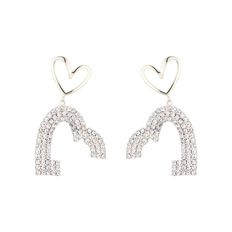 True gold plated fashion love S925 silver needle earrings yiwu nihaojewelry wholesale NHPS210000