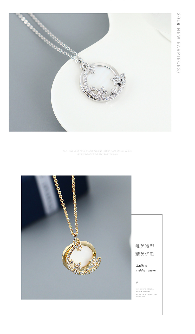 fashion AAA Zircon star Necklace wholesale NHPS222619