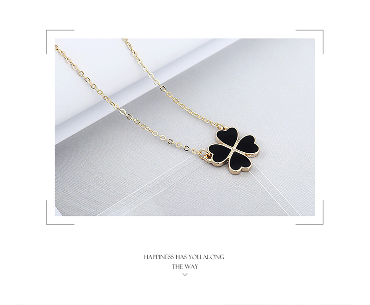 True Gold Plated Necklace-Sweet Clover necklace wholesale lucky necklace women NHPS222621