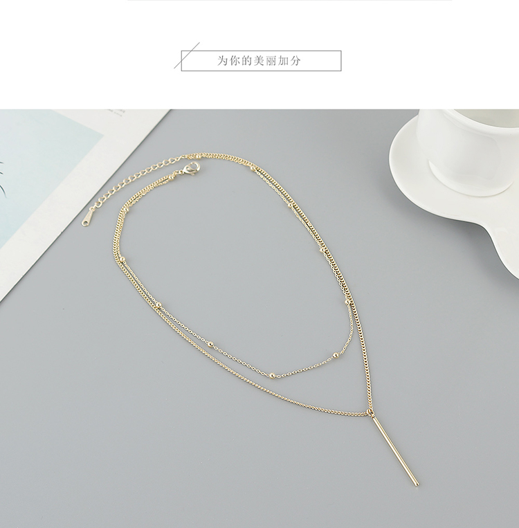 Popular gold-plated temperament double necklace wholesale fashion necklace women NHPS222622